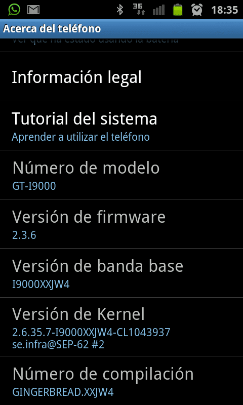 Captura de pantalla de la rom Value Pack 2.3.6 jw4.