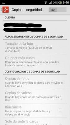 Copia seguridad Google+
