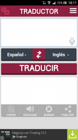 Traductor texto Android