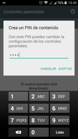 Pin control parental