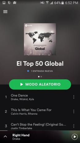 Tendencias Spotify