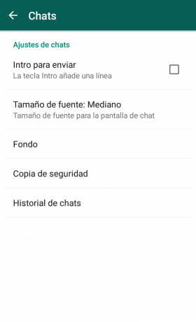 Chats de Whatsapp