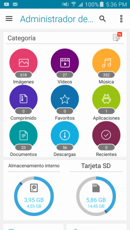 Menú File Manager