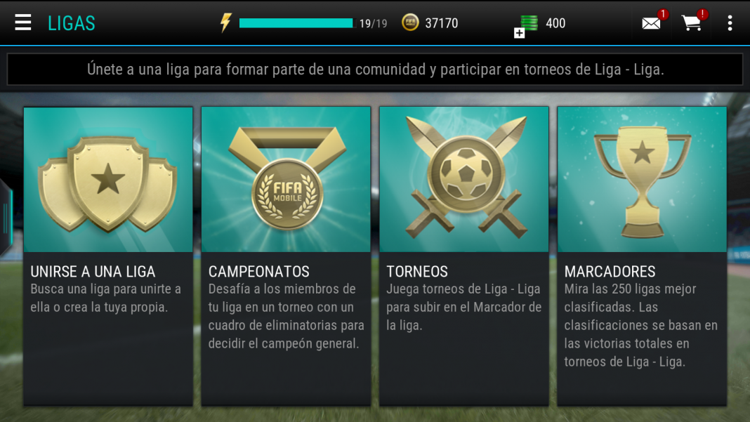 FIFA Mobile ligas en Android