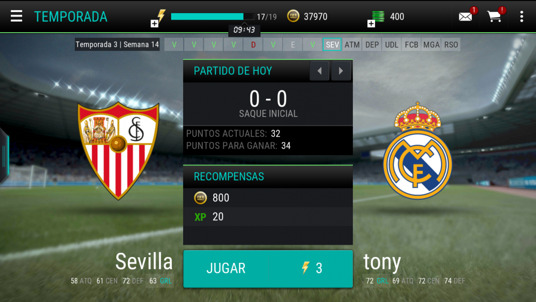 FIFA Mobile temporada en Android