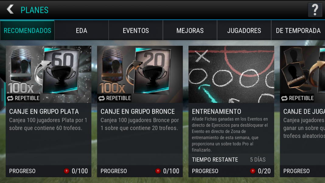 FIFA Mobile planes en Android