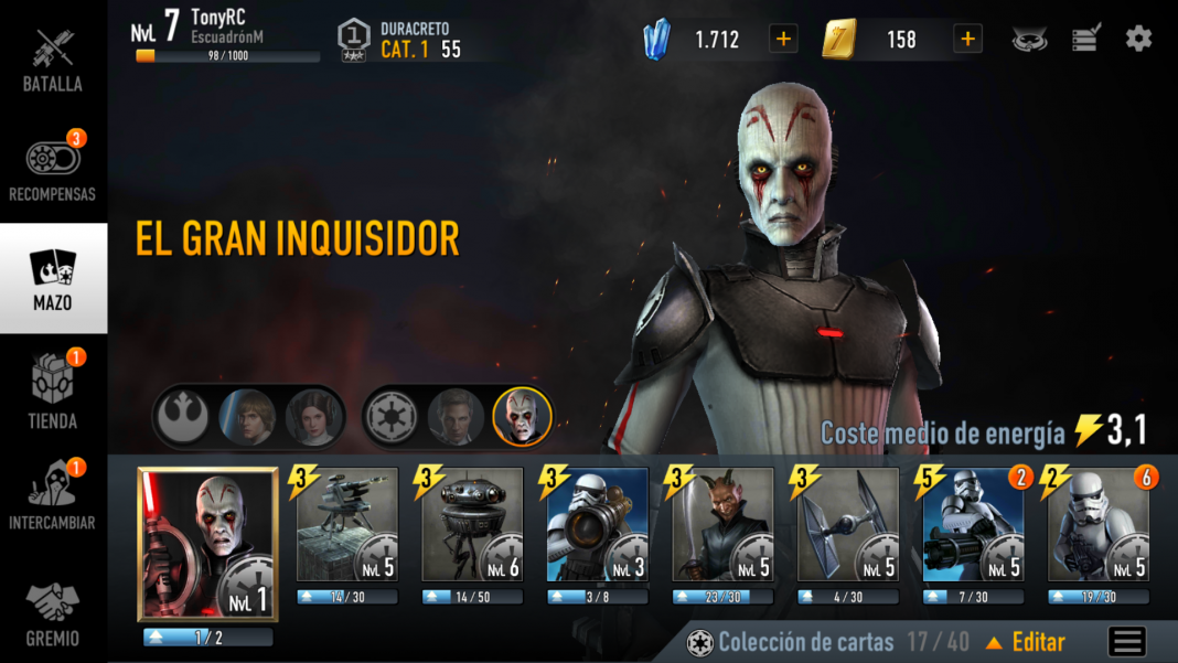 Star Wars Force Arena Mazo en Android