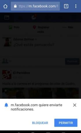 Notificaciones de Facebook