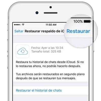 Restaurar copia de seguridad de WhatsApp